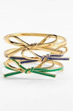 Obsessed with gold right now- love these KS bow bracelets