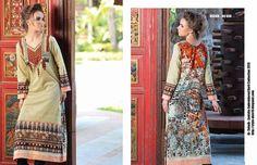 Design # 03B From Zanisha Embroidered Kurti Collection 2015 By Al Zohaib