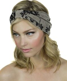 Velvet Burnout Floral Turban Headband #shoplately
