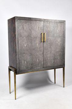 Ginger Brown France,galuchat,shagreen furniture   Cabinets