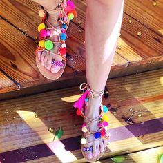 Handcrafted Greek Elina Linardaki 'Penny Lane' Sandals