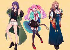 Division All Stars ヒプノシスマイク(Matenrou Hypnosis Mic) HypMic (ヒプマイ) All Star, Anime Rapper, Ghost Cat, Group Art, Art Costume, Rap Battle, Anime People, Pokemon, I Love Anime