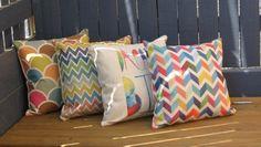 Multicoloured zig zag cushion - Image 2