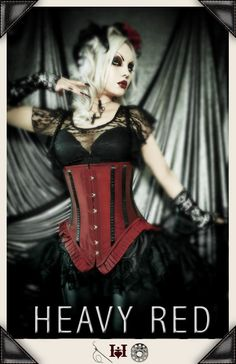 Those vertical strips again. Another beautiful under bust corset.