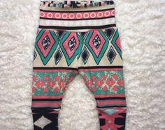 TRIBAL BABY LEGGINGS; childrens leggings, marysayssew, hip baby