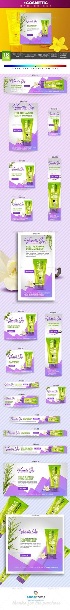 Buy Cosmetic Banner by bannertheme on GraphicRiver. Cosmetic Banner Wonderful banner designs for 18 different sizes ready for all your products, services, campaigns and . Web Design, Web Banner Design, Modern Logo Design, Make Design, Web Banners, Flat Design, Graphic Design, Instagram Banner, Website Logo