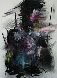 KwangHo Shi, senza titolo, olio e carboncino, 72.5 x 50 cm, 2013