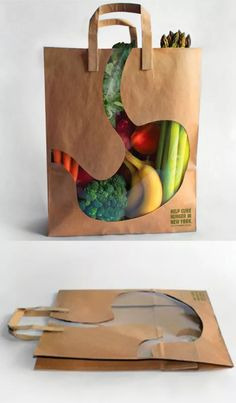 22 Empaques Creativos ~ Planeta Gráfico Whole Foods bag with groceries, fresh to the market Vegetable Packaging, Fruit Packaging, Food Packaging Design, Brand Packaging, Branding Design, Product Packaging Design, Packaging Ideas, Fruit And Veg Shop, Shopping Bag Design