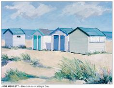 BEACH HUTS by Jane Hewlett