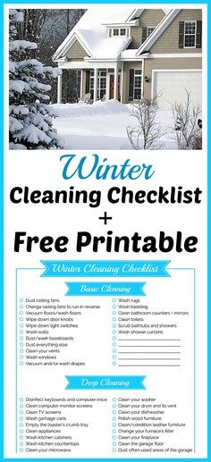Winter Cleaning Chec