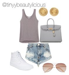 Untitled #387 by tinyybeautylicious on Polyvore featuring polyvore, fashion, style, Rebecca Minkoff, One Teaspoon, Vans, Hermès, Versace, H&M and clothing