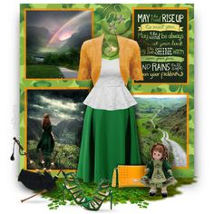 A Well-Known Irish Blessing by pwhiteaurora on Polyvore featuring Chicwish, Herve Guyel, & The Bradford Exchange ~ created 3-18-2016