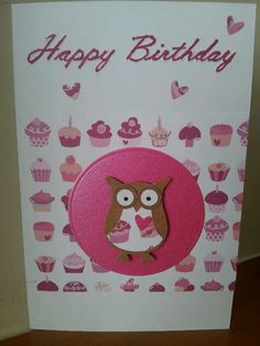 Stampin up owl punch card