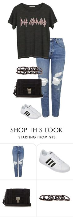 """""""Untitled #2793"""" by officialnat ❤ liked on Polyvore featuring Topshop, adidas, Proenza Schouler and Free Press"""