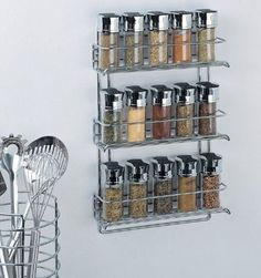 3 Tier Spice Rack | Click Pic for 20 DIY Kitchen Storage Ideas for Small Spaces | Easy Kitchen Organization Ideas