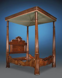 Mahogany Full Tester Bed by Charles Lee Antique Furniture For Sale, Antique Beds, Victorian Bed, Victorian Homes, Furniture Styles, Furniture Decor, Renaissance Furniture, Architectural Scale, High Beds
