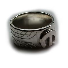 Individually hand made and engraved Sterling Silver Tyre (Tire) ring with silver Mopar M on the centre. Also available with a solid gold M on the top. Dodge Accessories, Jewelry Accessories, Handmade Jewelry Designs, Custom Jewelry, Blue Diamond Jewelry, Irish Rings, Silver Ring Designs, Body Jewellery, Engraved Rings