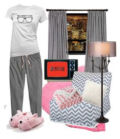 """""""my kinda night."""" by aliciag209 ❤ liked on Polyvore featuring TOM TAILOR, Dot & Bo, Pottery Barn, Lala + Bash and Thumprints"""