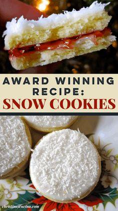 Christmas Goodies, Christmas Baking, Christmas Ideas, Snow Cookie Recipe, Baking Recipes, Cookie Recipes, Snow Cookies, Snow Cake, Cupcake Cakes