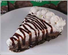 Girl Scout Cookie Thin Mint Chocolate Pie...Good thing I am getting 3 boxes, lol
