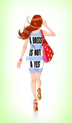 #dress #blue #draw #illustration #ginger #hair #redbag