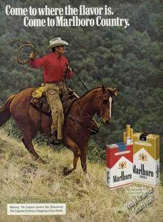 Marlboro Cowboy On Horse With Lariat Marlboro Cowboy, Marlboro Red, Funny Horse Memes, Funny Horses, Vintage Advertisements, Vintage Ads, Vintage Posters, Man On Horse, Cowboy Horse