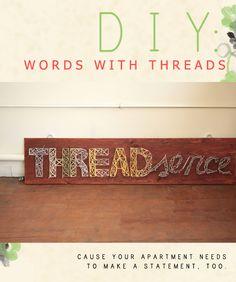 DIY: Words with Threads #diy #craft