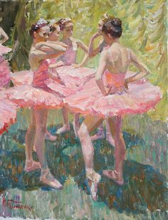 Ballerinas ~ I love this painting ! Ballet Art, Ballet Dancers, Ballerinas, Art And Illustration, Ballerina Kunst, Ballerina Painting, Ballerina Project, Inspiration Artistique, Little Ballerina