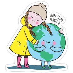 Climate Change stickers featuring millions of original designs created by independent artists. Save Our Earth, Save Planet Earth, Save Earth Drawing, Tableaux D'inspiration, Earth Drawings, Earth Day Posters, Climate Change Effects, Cute Cartoon Wallpapers, Environmental Art