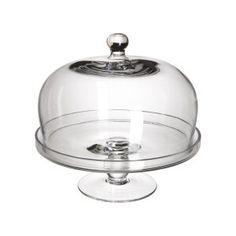 Plateau de présentation avec cloche Alzatine en verre transparent Ø 23 x H 20,5 cm