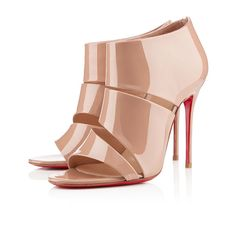 Nude Christian Louboutin Sandals 100mm Patent Leather