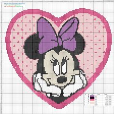 Discover thousands of images about Minnie Mouse Cross Stitch Patterns - Punto de cruz Cross Stitch Fairy, Cross Stitch For Kids, Cross Stitch Heart, Cross Stitching, Cross Stitch Embroidery, Embroidery Patterns, Disney Stitch, Disney Cross Stitch Patterns, Cross Stitch Designs