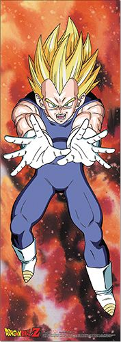 Dragon Ball Z Wall Scroll - Vegeta Super Saiyan [TALL] @Archonia_US