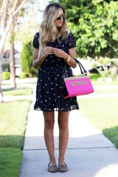 Grayson, Print, Dress, Leopard, Miche, Bag, OOTD, Blogger #michefashion #fashion #womensfashion