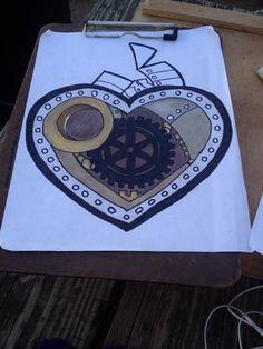take four - steampunk heart