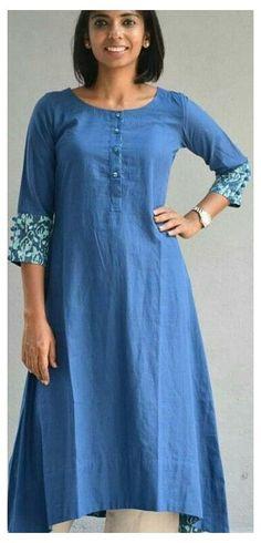 Salwar Pattern, Kurta Patterns, Dress Sewing Patterns, Salwar Designs, Kurta Designs Women, Dress Designs, Kurti With Jeans, Kurta Style, Dress Indian Style