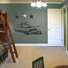 Tank Army Boys Kids Room Wall Art Decor Decal Large New | eBay