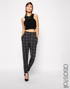 ASOS TALL Trousers In Tartan Check Print