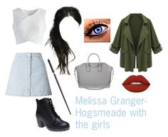 """""""Melissa Granger- Hogsmeade with the girls"""" by unitedbypotter ❤ liked on Polyvore featuring Chicwish, Wet Seal, Miss Selfridge, Lime Crime and Givenchy"""