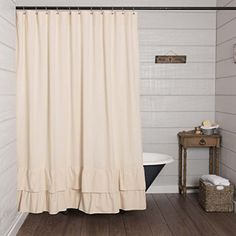 Ruffled Chambray Natural Shower Curtain, 72x72, Farmhouse... https://www.amazon.com/dp/B077Y84RFG/ref=cm_sw_r_pi_dp_U_x_EtWOAbR3CYC8C