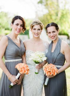 Jenny Yoo bridesmaid dresses & belts | photo by KT Merry Photography