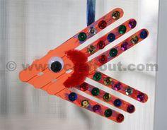 Fish Crafts | Craftsticks fish suncatchers | CRAFT OUT !!!
