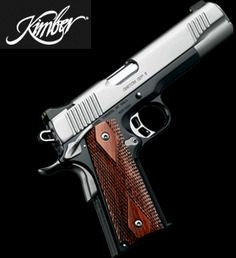Kimber Just about the nicest and well built 1911 pistols out there for the money. My wife had to have this model, and she knows how to use it. Home Defense, Self Defense, Weapons Guns, Guns And Ammo, Kimber 1911, 1911 Pistol, Fire Powers, Hunting Guns, Cool Guns