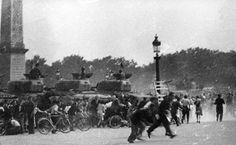 Libération de Paris, Place de la Concorde, © 1944, Lucien Hervé