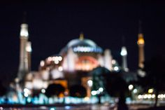 Night in Istanbul. Hagia Sophia by Ángel Robles. Travel photography.