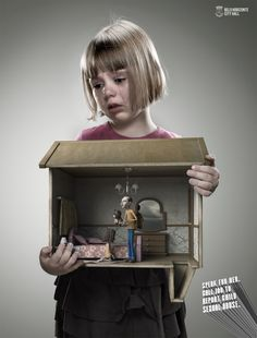 """Prefeitura De Belo Horizonte Child Abuse Awareness: Speak For Her, 3 """"Speak for. Call 100 to report child sexual abuse. Awareness Campaign, Powerful Images, Creative Posters, Creative Advertising, Social Campaign, Advertising Campaign, Emotional Abuse, Ad Design, Graphic Design"""