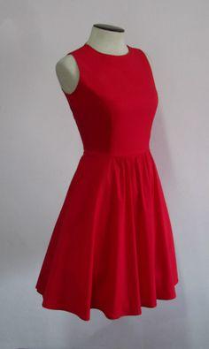 Juana Ballerina Dress in Holiday Red P2995