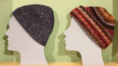 Caps are always knitted in winter time. Tanja Steinfach puts her . Caps are always knitted in winter time. Tanja Steinfach presents different models that are easy to knit. Lace Knitting, Crochet Shawl, Free Crochet, Knitting Patterns, Bandana Hairstyles, How To Start Knitting, Knitted Headband, Winter Time, Models