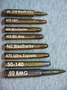 Big Bore Rifle Cartridges / Classic Safari Big Game Calibers
