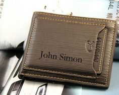 Men Wallets, Personalized Mens Wallet, Engraved Leather Wallet, Personalized Monogrammed Leather Wallet, Genuine Leather, fathers day gift